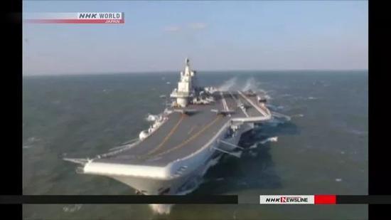 日本NHK今日播放的画面