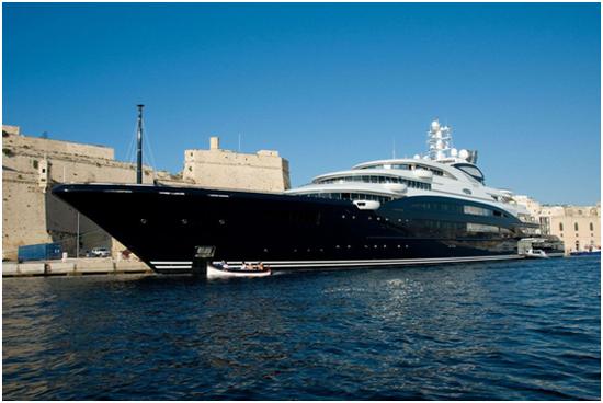 沙特王储Serene号游艇/资料图自《南华早报》