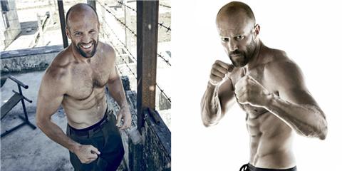 杰森斯坦森健身写真秀肌肉图片