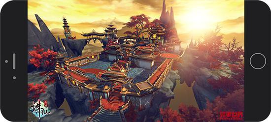 图5:《诛仙手游》完美还原小说焚香谷全貌