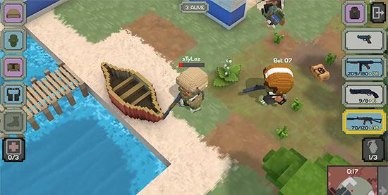 另外,开发团队还展示了游戏中玩家的装备类型:手榴弹、背包以及治疗包,和它们都和吃鸡一样具有相同的功效。