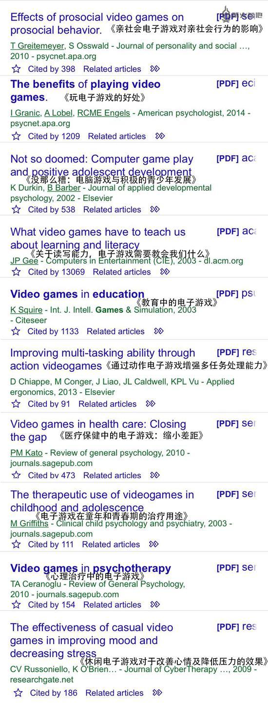 谷歌学术中有相当数量的关于必威体育手机客户端下载积极影响的研究