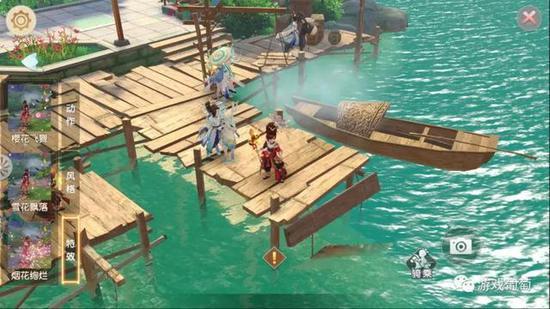玩家可选不同风格场景拍照