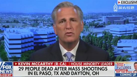 美国众议院少数派领袖 Kevin McCarthy 在电视节目中向电子必威体育手机客户端下载开炮