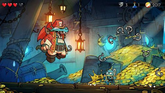 《神奇小子:龙之陷阱》是一款横版闯关游戏,基于1989年的同名游戏重制