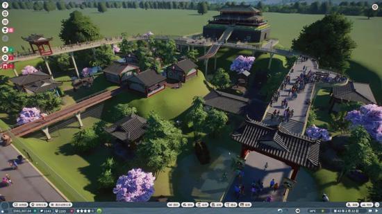 由玩家打造的东方风格园区