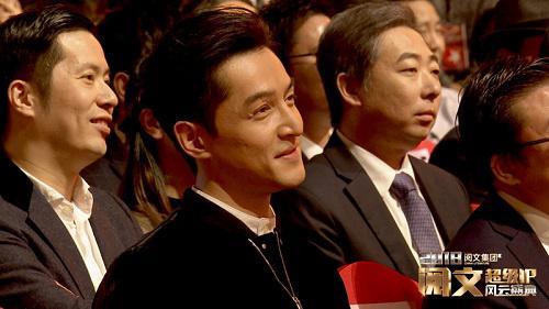 朱靖先生于盛典观众席(右)