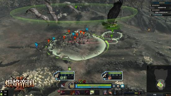 图1:完美融合RTS即时战略与ACT动作双核战斗模式