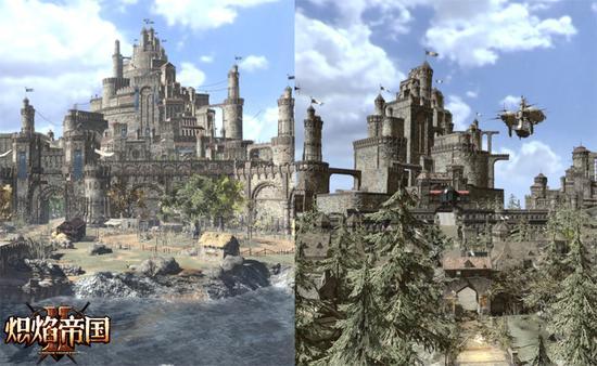 图4:荣耀之城新旧城堡对比图