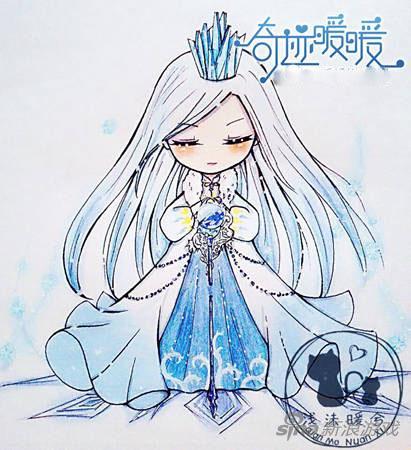 奇迹暖暖q版手绘呆萌亮相 雪之女王霸气不减