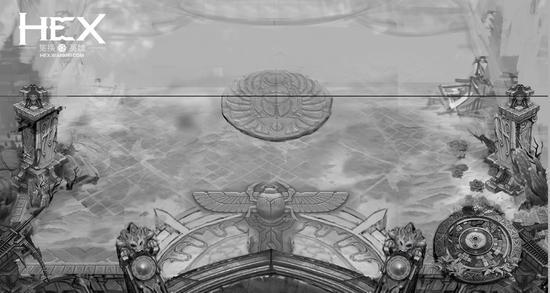 图4 《HEX》国服新战场线稿