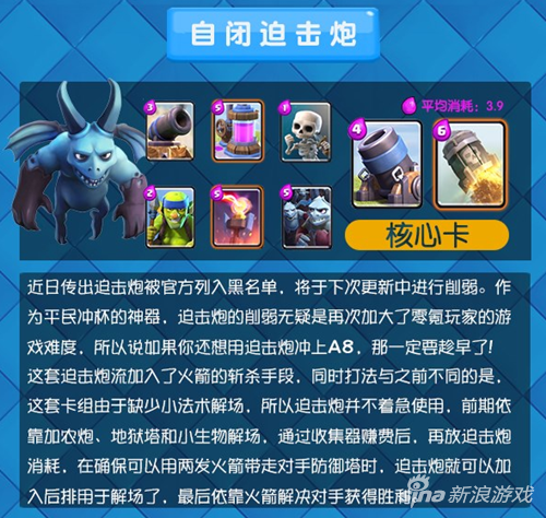 皇室战争冰冻三巨人流卡组介绍