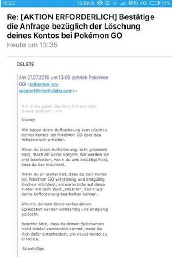《精灵宝可梦GO》官方:已删除首个满级游戏账号官方回复已经删除账号