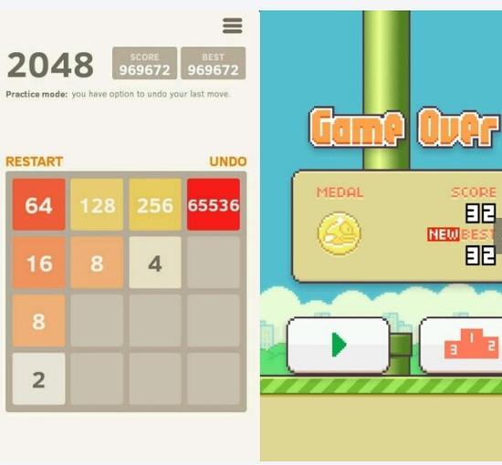 意外成为爆款的《2048》《Flappy Bird》,或许真的只是意外