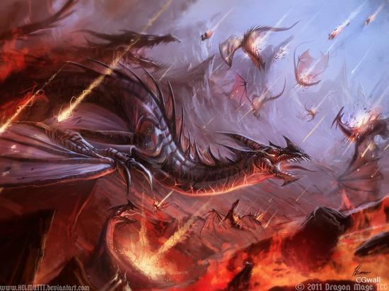 《龙族世界》插画分享第三期 巨龙振翅咆哮下