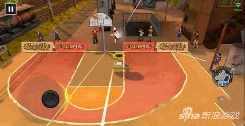 街头篮球手游拉杆上篮