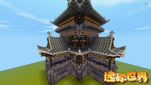 《迷你图纸》世界作品欣赏古建筑摘星楼_979玩家v图纸纪念碑图片