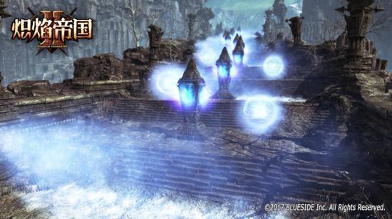 图四:走向遗迹的冒险之路,小心一路上的寒冰气流