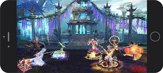 图4:《诛仙手游》全新焚香职业与三大主角激情血战