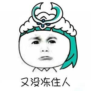 王者荣耀斗图表情包第184期 王昭君:又没冻住人图片