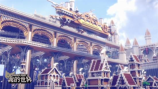 用方块实现想象力《我的世界》建筑峰会收官图片