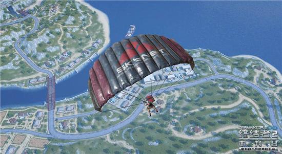"""图5:跳伞入场,做""""空降兵"""""""