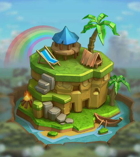 《王国纪元》城堡皮肤海岛风情属性介绍