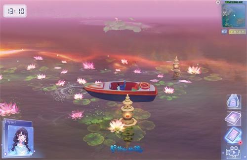 乘坐双人小船,浪漫荡漾湖心