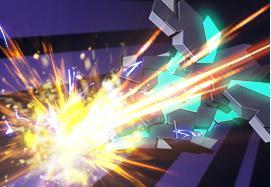 武装装甲DE攻击:使用武装DE对敌方进行攻击