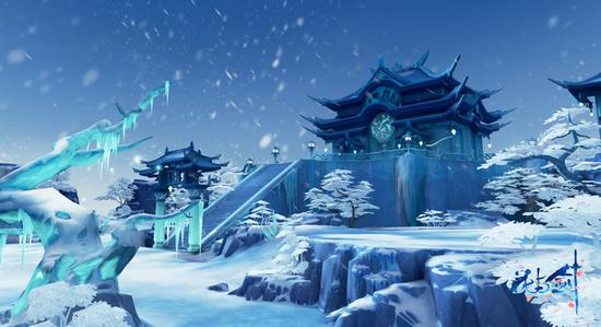 雪中雄城,别样风景