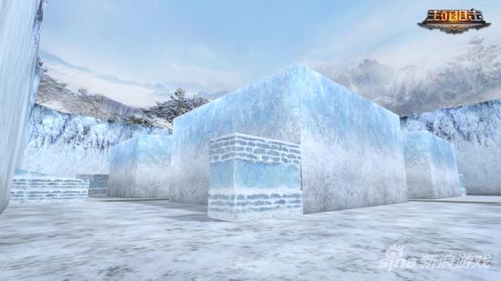 《生死狙击》中的冰雪堡垒