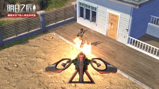 无人机与庄园入侵者战斗