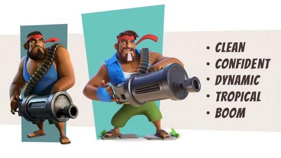 (左:《海岛奇兵》机枪手;右:《海岛奇兵:前线》机枪手)