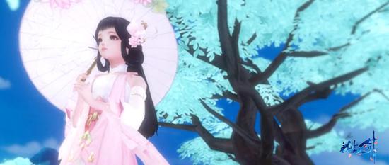 粉衫素裙,李清荷如仙子临凡