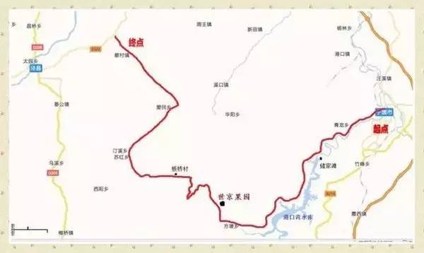 """""""318川藏线路图"""":-安徽竟然藏着一条江南天路 十里一景美哭了图片"""