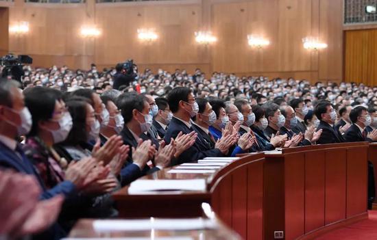 3月10日,中国人民政治协商会议第十三届全国委员会第四次会议在北京人民大会堂举行闭幕会。新华社记者 翟健岚 摄