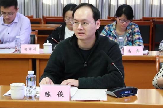 安徽省商务厅开发区处主任科员陈俊发言