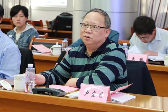 安徽省商务厅开发区处处长卢宏世主持会议