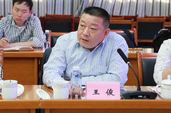 安徽省开发区协会宣传部部长王俊发言