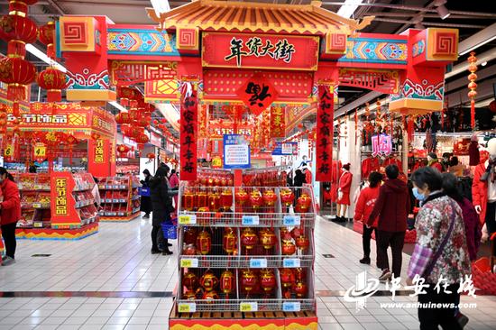 """安徽""""就地过年""""年味足:十万商家春节不打烊"""