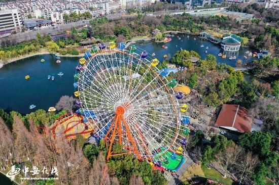春节假期,合肥杏花公园入园总人数突破10万人次