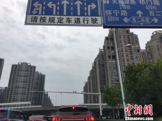 合肥街头一景。 吴兰 摄