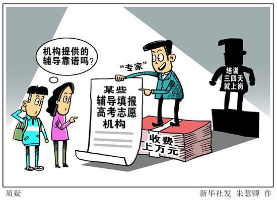 漫画:质疑 新华社发 朱慧卿 作
