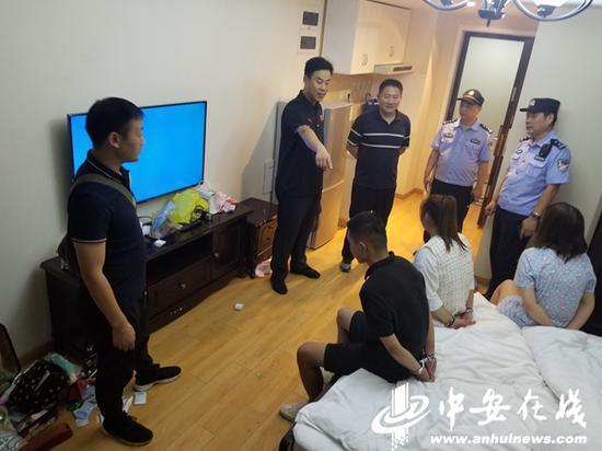 瑶海警方对写字楼内的网约房进行清查