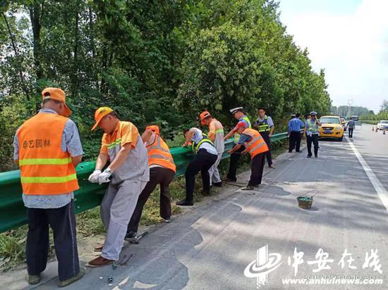 出行更安全 g206合淮路道路缺口强制封闭