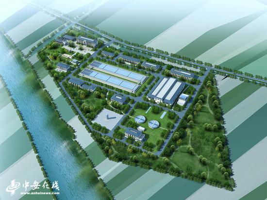 蒙城县县域城乡一体化供水工程效果图