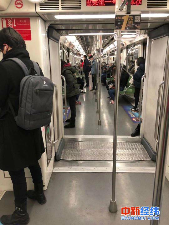 2月10日上海地铁1号线 来源:受访者供图