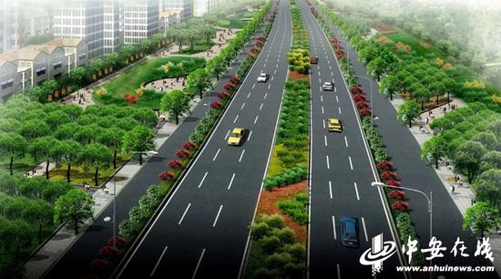 改造道路效果图