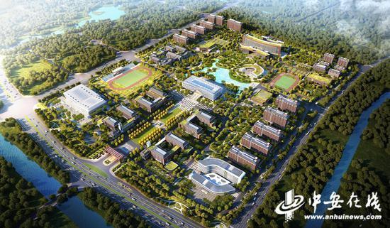 阜阳师范大学信息工程学院新校区整体鸟瞰图