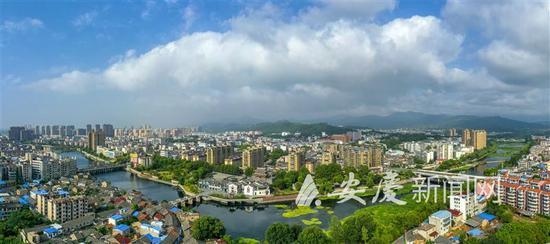 桐城龙眠河景区全景图。 通讯员 张令舟 摄
